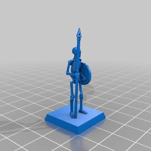 cde61c2ae8e7a81ac8406b8e27b23d3a.png Télécharger fichier STL gratuit Skeleton Spearmen Miniatures verion #2 • Plan pour imprimante 3D, Ilhadiel