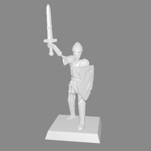 Télécharger plan imprimante 3D gatuit Skeleton Warrior Miniature version #2, Ilhadiel