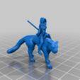 0f93b49eda94285fb450ccdeb1f3751e.png Télécharger fichier STL gratuit Panther Rider Girl Miniature • Design pour impression 3D, Ilhadiel
