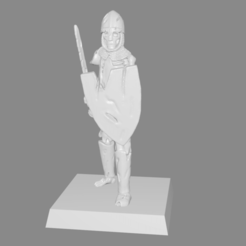 Download free 3D printer designs Skeleton Warrior Miniature, Ilhadiel