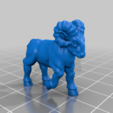 goat_v3.png Download free STL file Dwarf Knight Goat Cavalry Miniatures • 3D print object, Ilhadiel