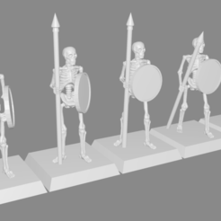 Download free 3D printing designs Skeleton Spearmen Miniatures, Ilhadiel