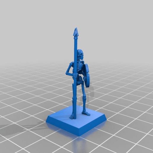 229e949ff22631bfc14b4abf1baf2943.png Télécharger fichier STL gratuit Skeleton Spearmen Miniatures verion #2 • Plan pour imprimante 3D, Ilhadiel