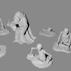total.png Download free STL file Necromancer and skeleton miniatures • Template to 3D print, Ilhadiel