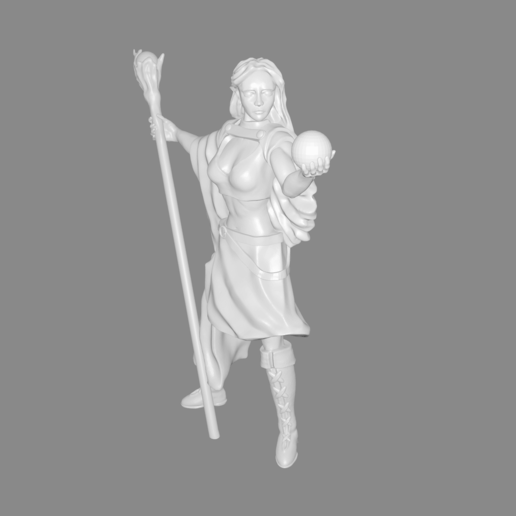 Elven_mage_pic.png Download free STL file Elven Mage Miniature • 3D print template, Ilhadiel