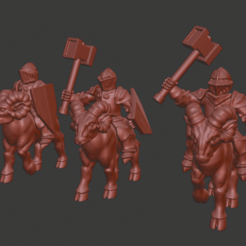 Download free 3D printing designs Dwarf Knight Goat Cavalry Miniatures, Ilhadiel