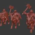 Dwarf_knights_v1.png Download free STL file Dwarf Knight Goat Cavalry Miniatures • 3D print object, Ilhadiel