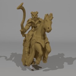 Download free 3D printer files Demonic Horsemen Miniature / Hellequin, Ilhadiel