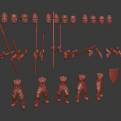 Download free 3D printer files Men-at-arms Miniatures (new version), Ilhadiel
