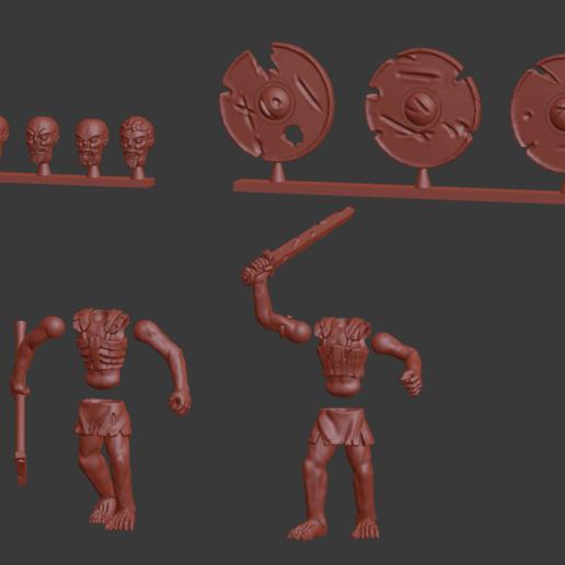 Télécharger fichier STL gratuit Draugr / Viking Morts-Vivants Miniatures • Plan imprimable en 3D, Ilhadiel