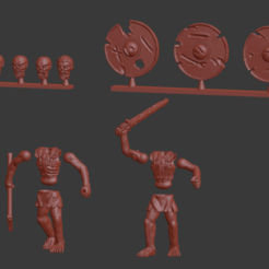 Download free 3D printer model Draugr / Viking Undead Miniatures, Ilhadiel