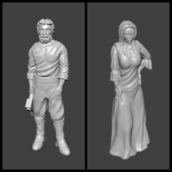 Descargar Modelos 3D para imprimir gratis Leñador y su esposa Miniaturas, Ilhadiel