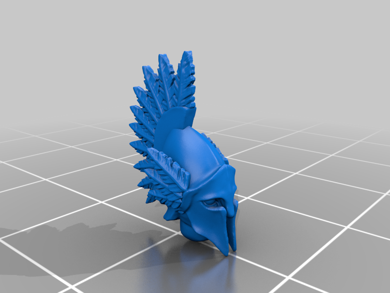 head_v3.png Télécharger fichier STL gratuit Infatrie des elfes / Miniatures des lanciers • Plan imprimable en 3D, Ilhadiel