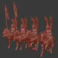 Winged_hussars_v1.png Download free STL file Winged Hussar Miniatures • 3D printing object, Ilhadiel