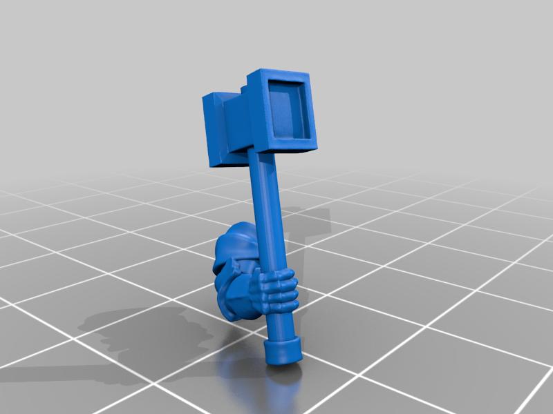 right_arm_v2.png Download free STL file Dwarf Knight Goat Cavalry Miniatures • 3D print object, Ilhadiel