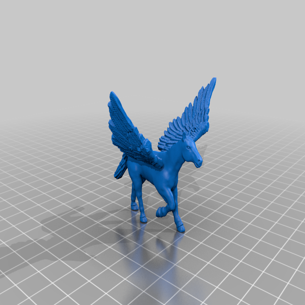 Pegasus.png Télécharger fichier STL gratuit Pégase miniature • Plan imprimable en 3D, Ilhadiel