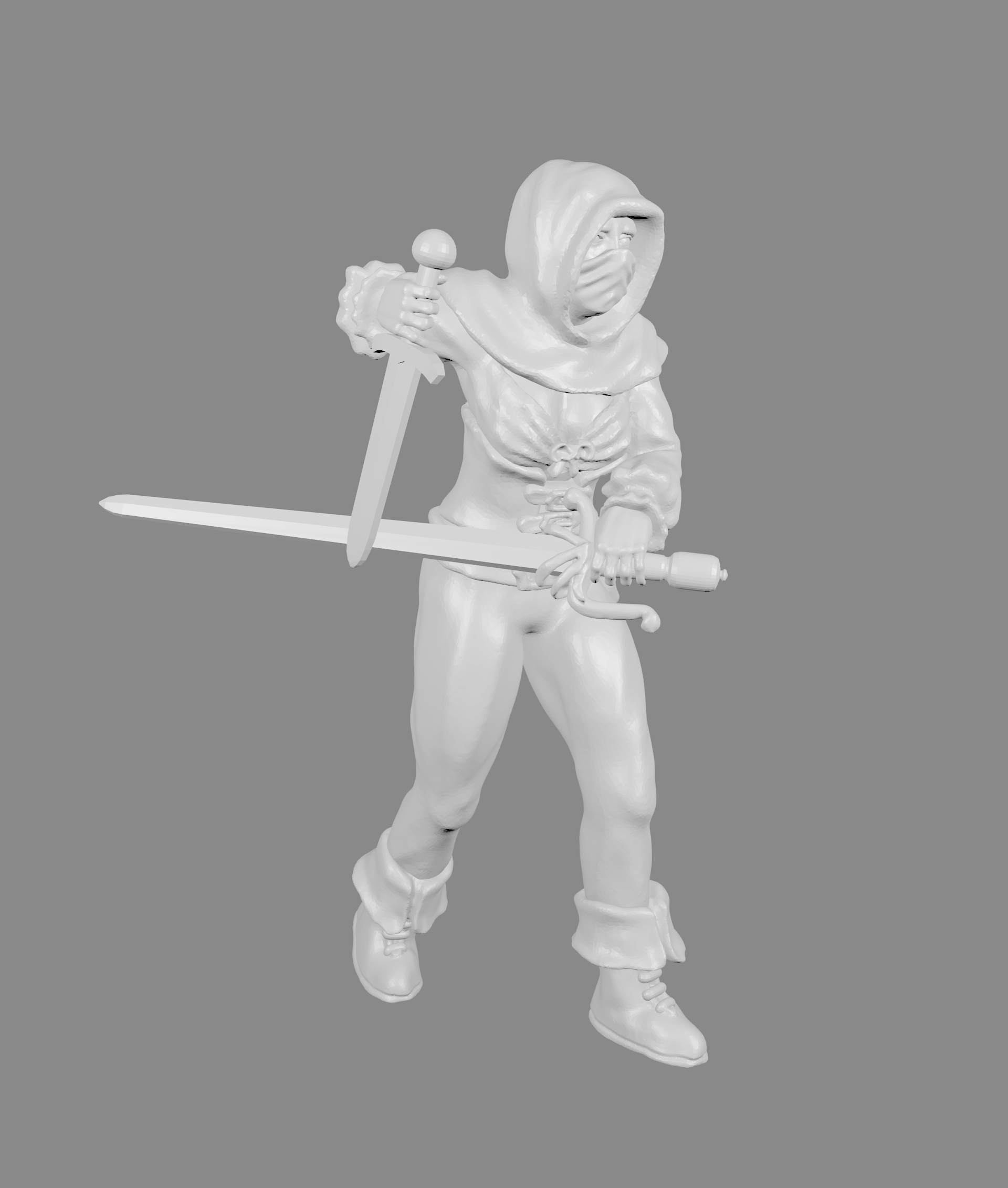 Female_Thief_pic_v2.png Download free STL file Female Thief/Treasure Hunter Miniature • 3D print model, Ilhadiel