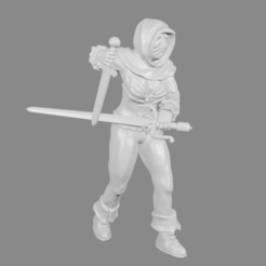 Download free 3D model Female Thief/Treasure Hunter Miniature, Ilhadiel