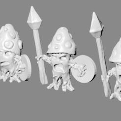 Download free 3D printer designs Cursed Mushroom Warrior Miniatures, Ilhadiel