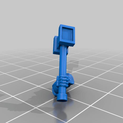 right_arm_v3.png Download free STL file Dwarf Knight Goat Cavalry Miniatures • 3D print object, Ilhadiel