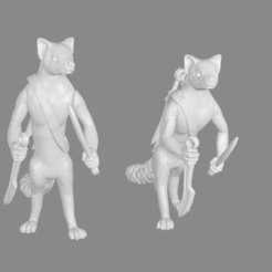 Download free STL file Foxmen: Marten Hunters Miniatures • 3D printing template, Ilhadiel