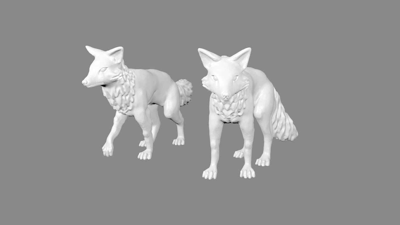 War_Foxes_pic_thingiverse.png Download free STL file Foxmen: War Fox Miniatures • 3D printer template, Ilhadiel