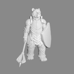 Bear_Knight_pic.png Télécharger fichier STL gratuit Ours Chevalier miniature • Plan imprimable en 3D, Ilhadiel