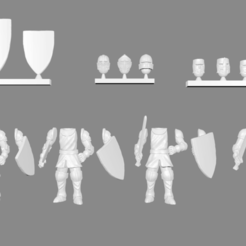 Download free 3D printer templates Knight Infantry Miniatures Customizable, Ilhadiel