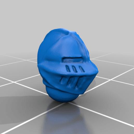 helmet_v3.png Download free STL file Dwarf Knight Goat Cavalry Miniatures • 3D print object, Ilhadiel