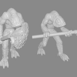 kua-toa_pic.png Télécharger fichier STL gratuit Kua-Toa / Miniatures de poissons • Plan pour imprimante 3D, Ilhadiel