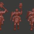 Dwarf_knights_v3.png Download free STL file Dwarf Knight Goat Cavalry Miniatures • 3D print object, Ilhadiel