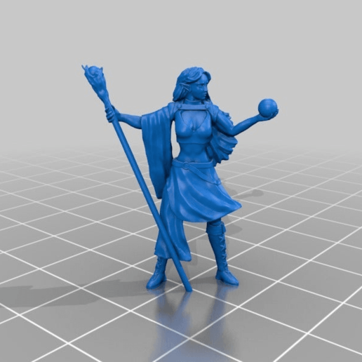 f987c98e429a28320becb683148a113a.png Download free STL file Elven Mage Miniature • 3D print template, Ilhadiel