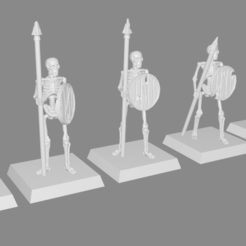 Télécharger fichier imprimante 3D gratuit Skeleton Spearmen Miniatures verion #2, Ilhadiel