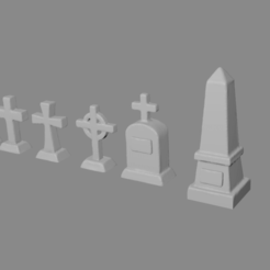 Download free STL file Headstones for Tabletop Gaming • 3D printable model, Ilhadiel