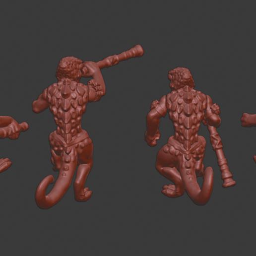 Chameleon_warriors_v3.png Télécharger fichier STL gratuit Miniatures de guerriers caméléons • Design à imprimer en 3D, Ilhadiel
