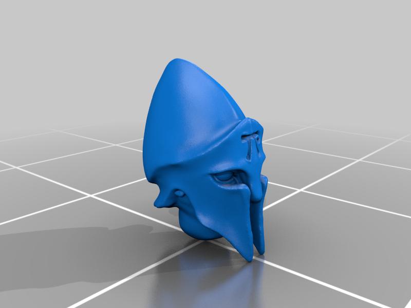 head_v5.png Télécharger fichier STL gratuit Infatrie des elfes / Miniatures des lanciers • Plan imprimable en 3D, Ilhadiel