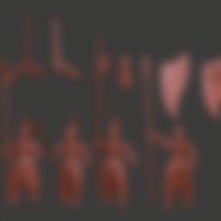 body_v6.stl Télécharger fichier STL gratuit Infatrie des elfes / Miniatures des lanciers • Plan imprimable en 3D, Ilhadiel