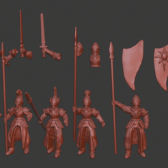 Download free STL file Elf Infatry / Spearmen Miniatures, Ilhadiel