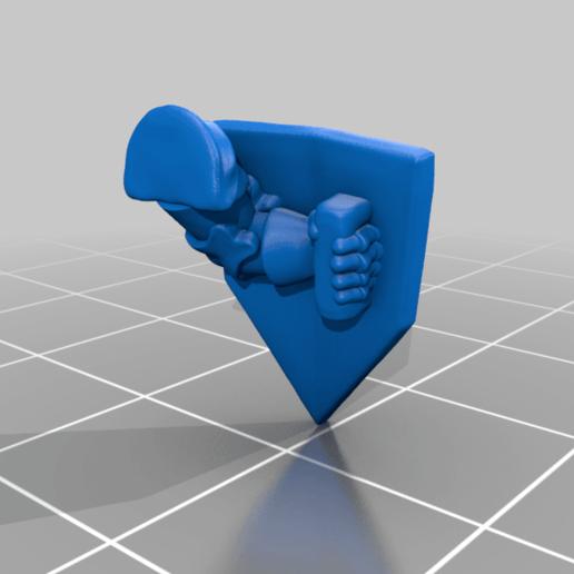left_arm_v1.png Download free STL file Dwarf Knight Goat Cavalry Miniatures • 3D print object, Ilhadiel