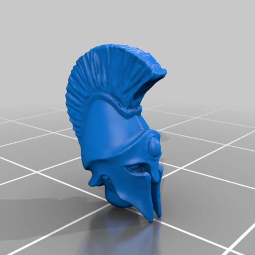head_v2.png Télécharger fichier STL gratuit Infatrie des elfes / Miniatures des lanciers • Plan imprimable en 3D, Ilhadiel