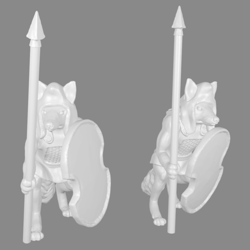 Download free 3D printing designs Foxmen: Foxmen Warrior Miniatures Persian Style versions, Ilhadiel