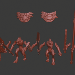 Download free 3D printer files Lizardmen/Lizardfolk Miniatures, Ilhadiel