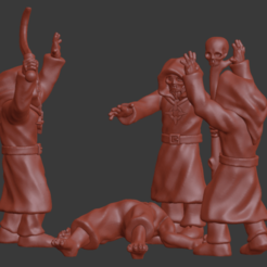 Download STL file Blood Mages / Magus Conclave Miniatures • 3D printable template, Ilhadiel