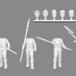 Descargar diseños 3D gratis Guardia de la Ciudad / Hombres de armas Expansión de miniaturas, Ilhadiel