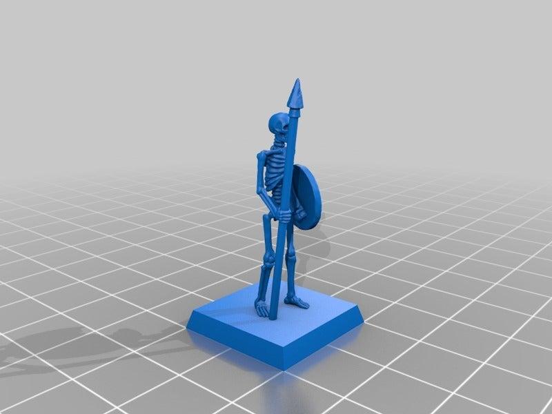 9ba6144cc97890e5841a03b979f9ff8d.png Télécharger fichier STL gratuit Skeleton Spearmen Miniatures verion #2 • Plan pour imprimante 3D, Ilhadiel
