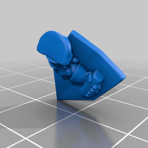 left_arm_v2.png Download free STL file Dwarf Knight Goat Cavalry Miniatures • 3D print object, Ilhadiel