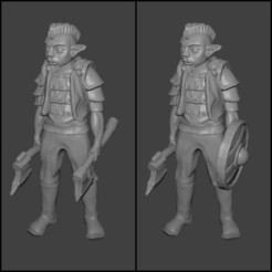 Download free STL file Gnome Warrior Miniature • 3D print template, Ilhadiel