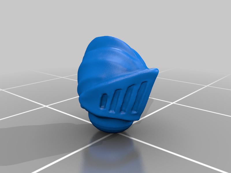 helmet_v1.png Download free STL file Dwarf Knight Goat Cavalry Miniatures • 3D print object, Ilhadiel
