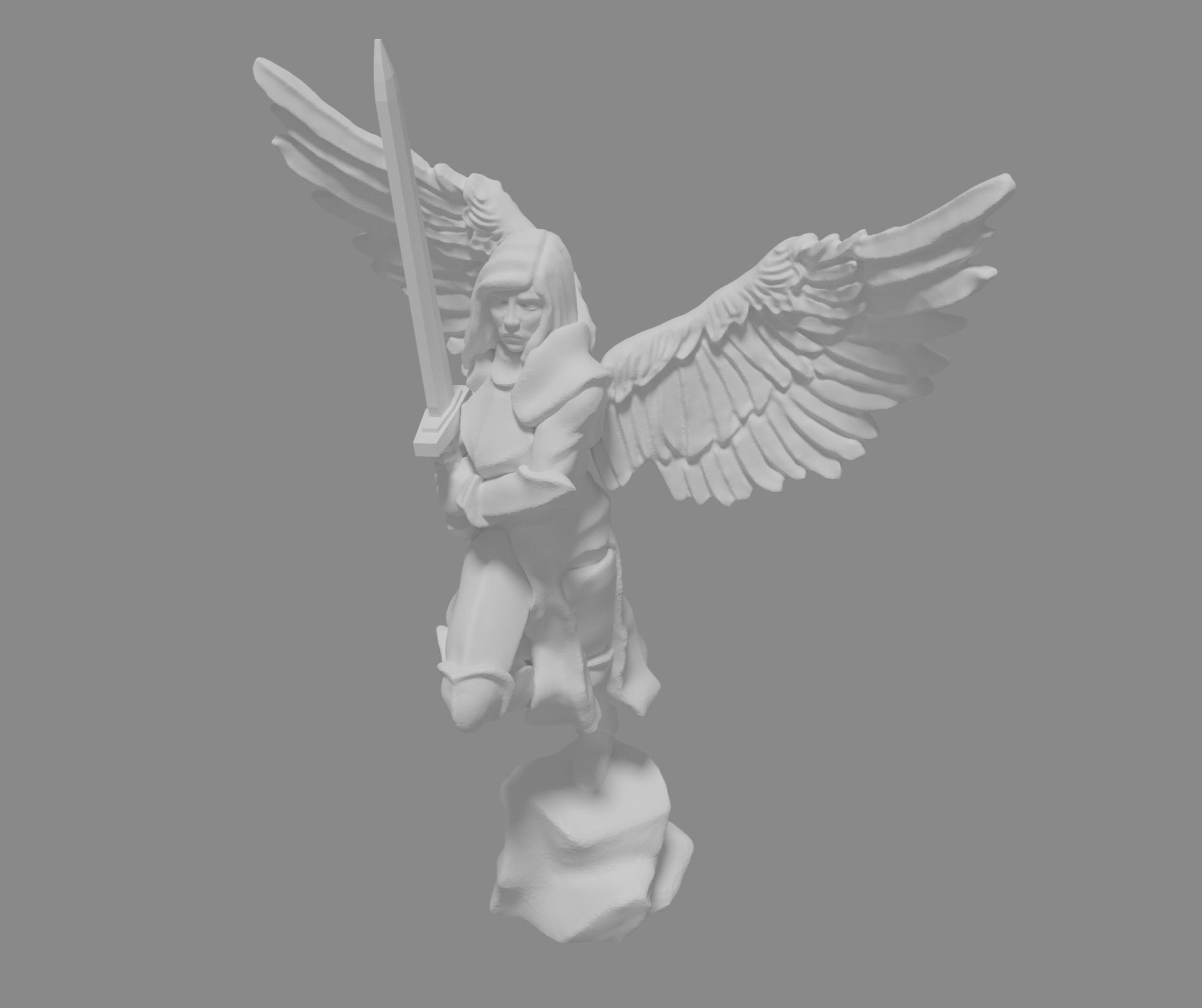 archangel_pitcure.png Télécharger fichier STL gratuit Miniature d'un archange • Design pour imprimante 3D, Ilhadiel
