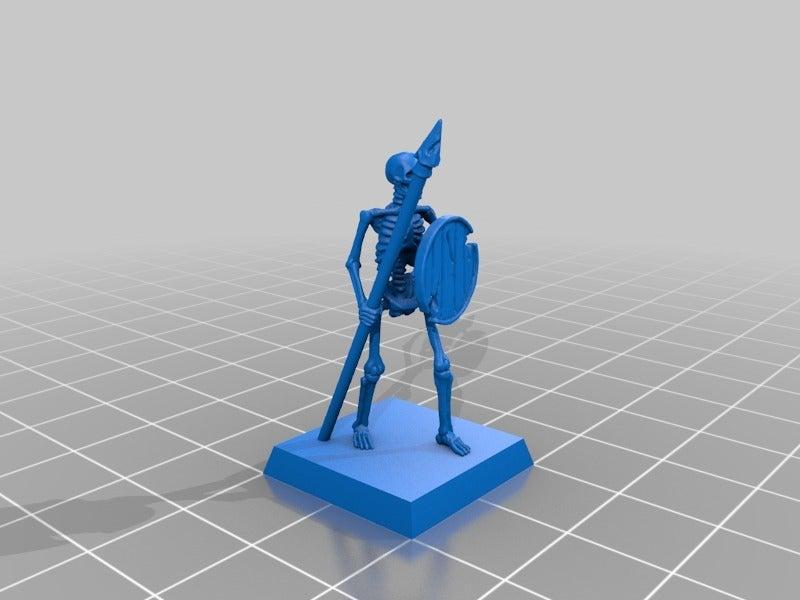 464365b3a092096f8185218cb11f5a9e.png Télécharger fichier STL gratuit Skeleton Spearmen Miniatures verion #2 • Plan pour imprimante 3D, Ilhadiel
